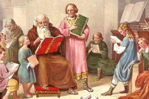 15 août 803: Charlemagne décide d'inventer l'école alors qu'il est coincé dans les embouteillages avec ses petits-enfants